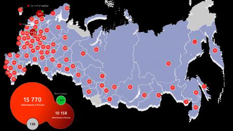 Россия вошла в топ-15 стран по числу больных коронавирусом: в Москве новый скачок