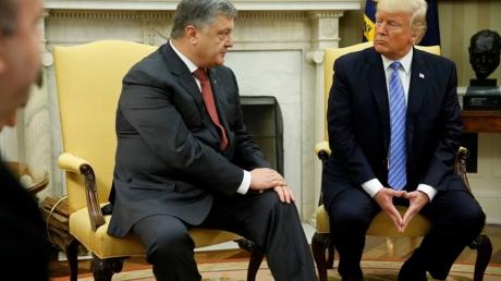 """""""Это ненастоящие Порошенко и Трамп, их можно купить в любом военторге!"""" - реакция соцсетей на встречу президентов Украины и США"""