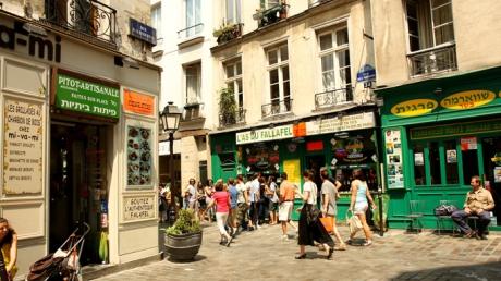 Французские фото еврейских магазинчиков