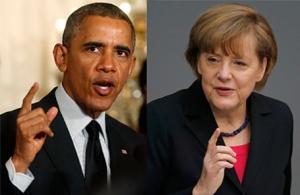 Барак Обама, Ангела Меркель, США, Германия, переговоры, Минские соглашения, Донбасс