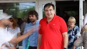 Мирослав Олешко, Михаил Саакашвили, облили зеленкой, постановка, встреча с избирателями