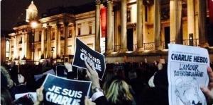лондон, митинг, акция, Charlie Hebdo