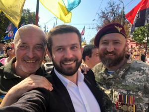 Украина, киев, Марш Достоинства, День Независимости, ветерана, шествие, защитники
