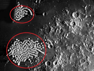 Луна, монстр, чудовище, отпечатки, аномалия, уфология, открытие