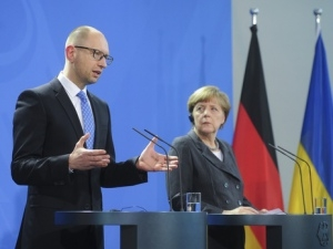 Киев, Яценюк, Меркель, пресс-конференция, Евромайдан