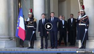 Видео, Путин, российский флаг порвали, Зеленский, Переговоры, Донбасс, Нормандская встреча