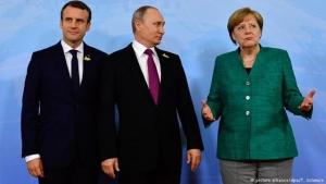 Политика, Россия, Владимир Путин, кадры, большая двадцатка, саммит в Гамбурге, разговор, макрон, меркель, Украина