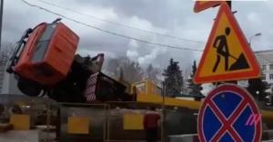 россия, москва, строительный кран, происшествия, общество, видео