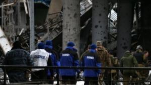 украина, обсе, аэропорт, обстрелы, донбасс, днр, донецкая республика