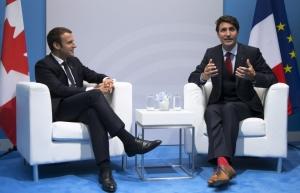 Макрон, Трюдо, Канада, ЕС, большая двадцатка, Гамбург, Германия, Украина, война на Донбассе, встреча Макрона и Трюдо, Франция, президент Франции и Канады, G20