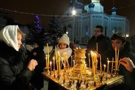 Рождество, собор, владимирский, празднование, Украина