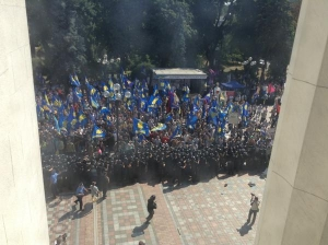 верховная рада, политика, общество, киев, новости украины, особый статус донбасса, донецк, луганск, изменения, конституция, митинг