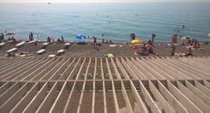Крым, Ялта, пляж,  курортный сезон
