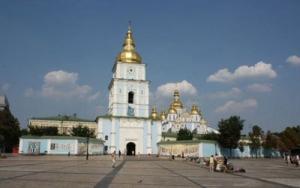 украина, киев, празднование пасхи, перекрытое движение, улица владимирская