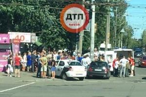 киев, авария, дтп, пострадавшие, иномарка, фото, новости украины, происшествия