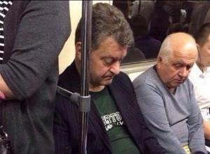 Порошенко, метро, двойники, Синицын