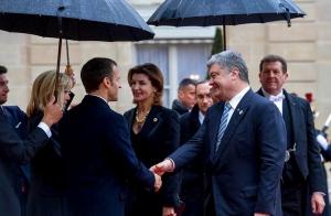 порошенко, париж, франция, макрон, политика, украина