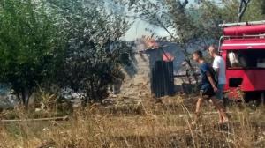 донецкая область, днр, макеевка, поля, пожар, чп, происшествия, огонь, пламя, кадры, фото, новости украины