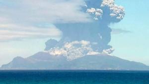 япония, вулкан, извержение
