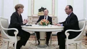 Путин, Меркель, Олланд, Порошенко, восток Украины, Донбасс, АТО, мирный план
