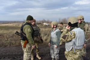 Украина, Донбасс, Вооруженные силы США, Рабочая поездка, Линия разграничения, АТО
