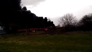 "краснодон, ""лнр"", взрыв цистерн, пожар в краснодоне, происшествия, фото, видео, украина"