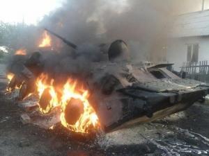 """торез, боевики """"днр"""", бунт донецких террористов, поджог танков, происшествия, общество, украина, россия"""
