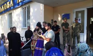 Одесса, церковь, военная академия, скандал, видео, разбирательство