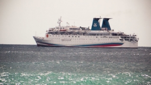 Крым, Князь Владимир, круизный лайнер, судно, видео