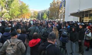 Украина, МВД, Журналистка, Активисты, Полиция, Митинг, Стычки, NewsOne, С14