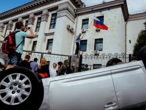 российское посольство, правый сектор, самооборона майдана, майдан