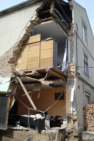 тернопольская область, здание, разрушение, обвал