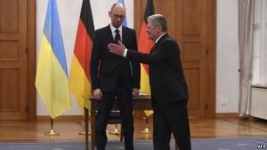 яценюк, германия, минские соглашения, нарушение