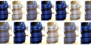 черно-синее, бежево-золотое, платье, ученые