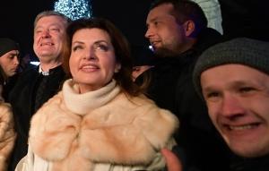 порошенко, софиевская площадь, новый год, президент украины, фото, видео, украинцы, соцсети