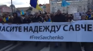 москва, марш памяти Немцова, политика, общество, гимн Украины, видео, Украина