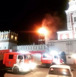 россия, москва, Новодевичьий монастырь, москва, общество, происшествие, пожар