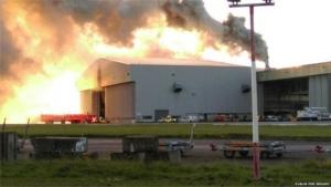 ирландия, дублин, пожар, аэропорт