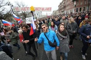россия, санкт-петербург, протесты, он нам не димон, навальный, омон, скандал
