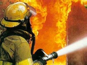 Украина, происшествия, Ужгород, новости, пожарные, пожар, заправка