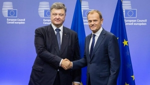 Дональд Туск, Петр Порошенко, Совет Европы, ЕС, Украина