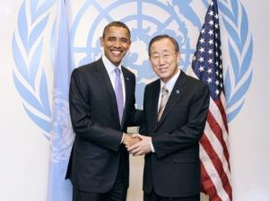 Обама, Пан Ги Мун, ООН, восточная Украина, эюола