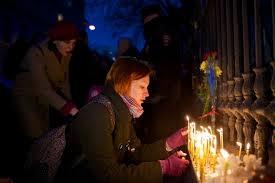 Киев, Майдан, АТО, воины, молодежь, свечи