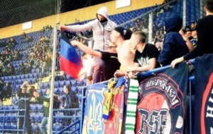 Шахтер, Металлист, спорт, футбол, фанаты сожгли флаг ДНР