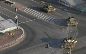 Луганск, колонная, техника, Уралы