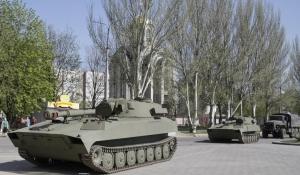 донецк, днр, восток украины, донбасс, тяжелые орудия