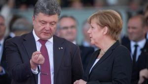 порошенко, меркель, политика, украина, донбасс, обсе, германия, восток украины, санкции, экономика