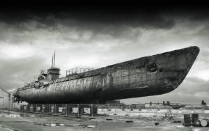 Германия, техника, Вторая мировая война, немецкая субмарина, подлодка, подводная лодка, U-3523, Дания, кадры, фото, видео