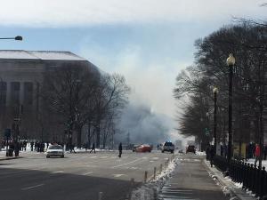 Белый дом, пожар, Вашингтон, Обама