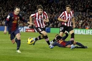 барселона, атлетик, кубок испании, футбол онлайн